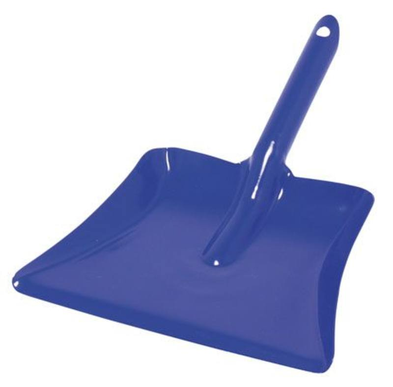 Metal dustpan blue 24 cm