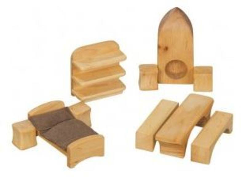 Verneuer Wooden Doll House Furniture 9pcs