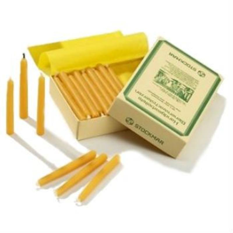 Stockmar birthday cake beeswax candles 70x7mm - box/60pcs