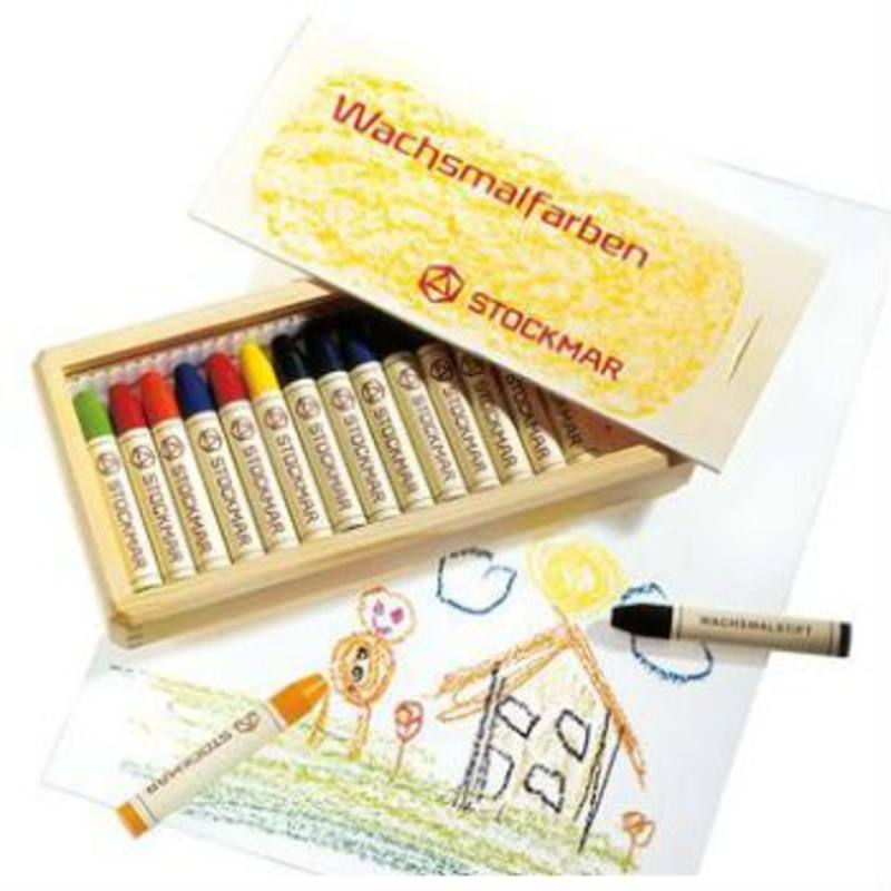 Stockmar Stick Crayons - 16  In Wooden Box