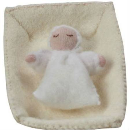 Buy Baby Jesus in the Manger Handmade with Wool Felt SPECIAL ORDER in Australia.