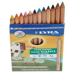 Buy Lyra colour giants unlacquered 12 assorted with Gold And Silver 3931122 in AU Australia.
