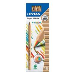 Buy Lyra colour giants 4-colour Rainbow  box of 12 pencils 3930500 in AU Australia.