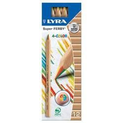 Buy Lyra Super Ferby 4-colour Rainbow box of 12 pencils 3710500 in AU Australia.