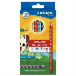 Buy Lyra Groove Coloured Pencils- 10 Pencil pk 3811100 in AU Australia.