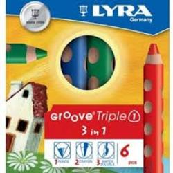 Buy Lyra GrooveTripleOne a Colour Pencil Watercolour and Wax Crayon all in one 6 assorted in AU Australia.
