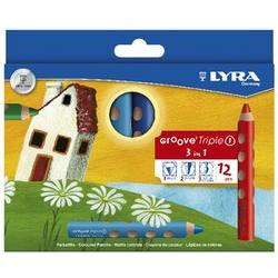 Buy Lyra GrooveTripleOne - a Colour Pencil Watercolour and wax crayon all in one 12 assorted colours BIG SAVINGS  D in AU Australia.
