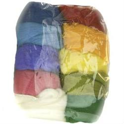Buy Merino Wool Fleece 100gm Pack of Assorted Colours in AU Australia.