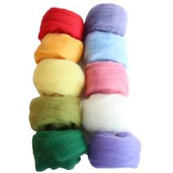Buy Merino Wool Fleece 100gm Mixed Colour Pack in AU Australia.