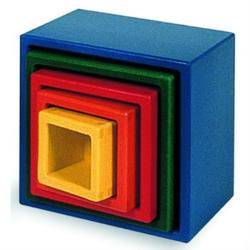 Buy D Nesting Blocks that Stack - Square - 5 pieces 13.5x13.5x12cm SPECIAL ORDER in AU Australia.