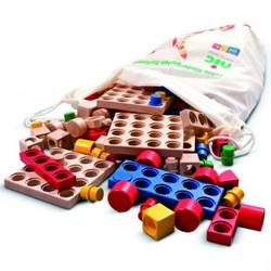 Buy Cubio Plug-in Wooden Blocks - Kindergarten range 221 pieces SPECIAL ORDER in AU Australia.