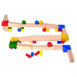 Buy Cubio Wooden Marble Ball Run Basic Set 61 pcs in AU Australia.