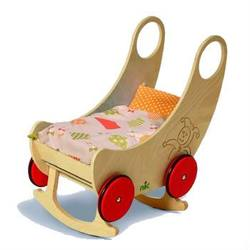 Buy Childrens Convertible Wooden Cradle and Pram - Natural 60 x 38 x 60cm in AU Australia.