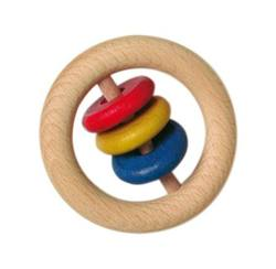 Buy Wooden rattle - 6cm ring with 3 discs small (Minimum 5pcs) price per item in AU Australia.