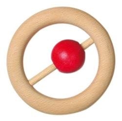 Buy Wooden rattle 8cm ring with ball (Minimum 5pcs) price per item in AU Australia.