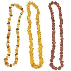 Buy Amber Teething Necklace avail in 2 sizes/3 colours in AU Australia.