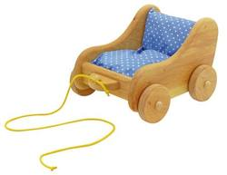 Buy Childrens Wooden Doll Pram - small 24cm 22cm h15cm in AU Australia.