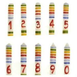 Buy Birthday Candles - Coloured Stripes 10x1.8cm in AU Australia.