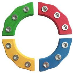 Buy Wooden Quarter Circle Birthday Ring with Metal Inserts for 3 Candles in AU Australia.