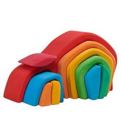 Buy Gluckskafer Wooden Blocks - Tunnel House 10pcs in AU Australia.