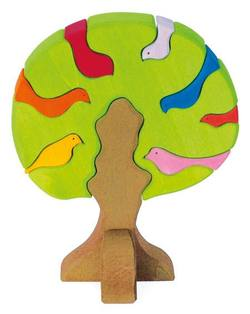 Buy Gluckskafer Wooden Blocks - Bird tree light green 23x19x11cm 9 pcs in AU Australia.