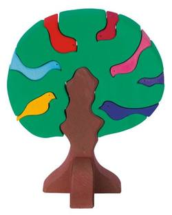Buy Wooden Puzzle Blocks - Bird tree dark green 23x19x11cm 9 pieces DO in AU Australia.