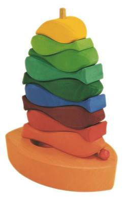 Buy Gluckskafer Wooden Blocks - Fish Tower 10 pcs 16x7x21cm in AU Australia.