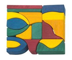 Buy Gluckskafer Wooden Blocks 17 pcs coloured small 4cm wide D in AU Australia.