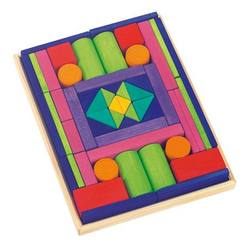 Buy Gluckskafer Wooden Blocks - Provence Large w Tray 53 pcs in AU Australia.