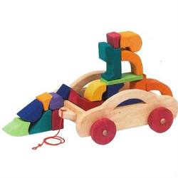 Buy Gluckskafer Wooden Blocks - Car Pull Along Trolley w Blocks 17 blocks in AU Australia.