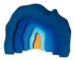 Buy Gluckskafer Wooden Blocks - Wooden Grotto set 5 pcs blue in AU Australia.