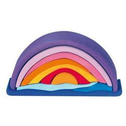 Buy Gluckskafer Wooden Blocks - Sunset Rainbow Arch 10 pcs purple in AU Australia.