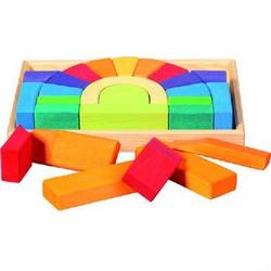 Buy Rainbow Bridge Block Set in Tray (22pcs) in AU Australia.