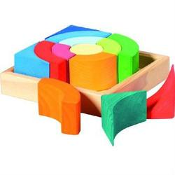 Buy Square Circles Block and Tray Set (13pcs) in AU Australia.