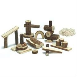 Buy Nic Branchwood Blocks in Cotton Net Bag - Arches Posts and Holes - 26 pieces in AU Australia.