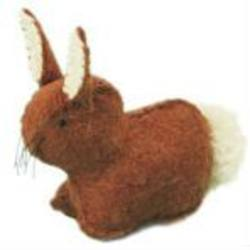 Buy Rabbit Handmade with Wool Felt Light Brown 4 cm in AU Australia.