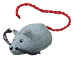 Buy Mouse Handmade with Wool Felt Grey 5 cm in AU Australia.
