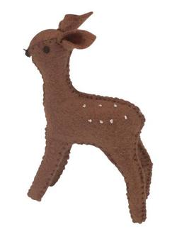 Buy Fawn Standing Handmade with Wool Felt 6 cm in AU Australia.