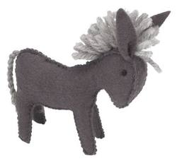 Buy Donkey Handmade with Wool Felt 10 cm in AU Australia.
