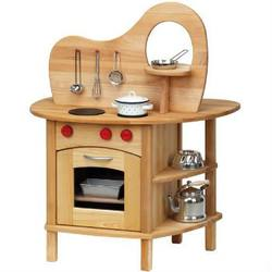 Buy Childrens Wooden Kitchen Double-sided with Stove and Sink in AU Australia.