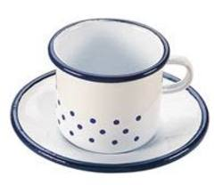 Buy Enamel cup and saucer 6 x 9cm in AU Australia.