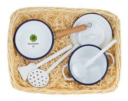 Buy Gluckskafer Enamel Cooking set in cane basket 34 x 21cm in AU Australia.
