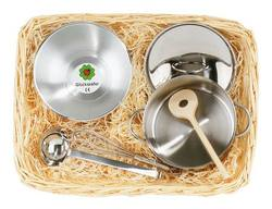 Buy Gluckskafer Stainless Steel Cooking set in cane basket in AU Australia.