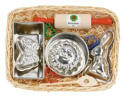 Buy Gluckskafer Baking set with Rabbit mould in cane basket 34 x 21cm SPECIAL ORDER in AU Australia.