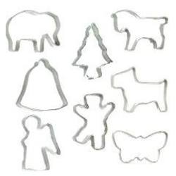 Buy Mini Cookie Cutter - Various Shapes (sold in packs of 10 price shown per cutter) in AU Australia.