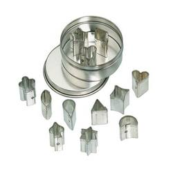 Buy Mini Cookie Cutter Set - 12 assorted shapes in Metal Box in AU Australia.