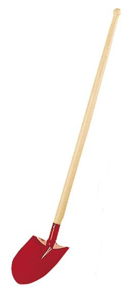 Buy Metal shovel - rounded with point 81cm red  SPECIAL ORDER in AU Australia.