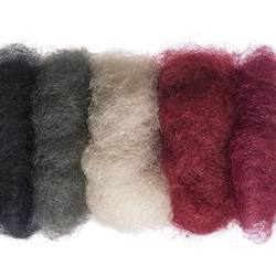 Buy Plant Dyed Wool Fleece Mixed Black/Red Tones 50g - DUE MAY in AU Australia.