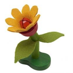 Buy Wood and Felt Flower Rattle NEW in AU Australia.
