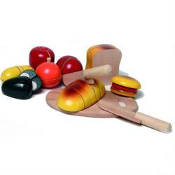 Buy Walter Jumbo Breakfast Cutting Game- 8 foods with board and 2 wooden knives in AU Australia.